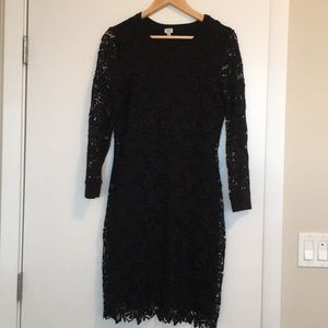 Wilfred black lace dress